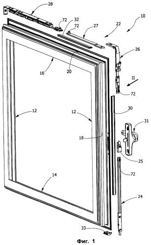 Способ установки приводного узла для дверных и оконных рам