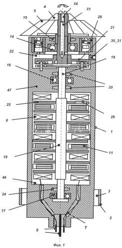 Биротативный скважинный генератор