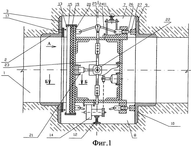 Защитный затвор подземной выработки