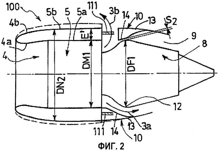 Гондола для двухконтурного турбореактивного двигателя с высокой степенью двухконтурности
