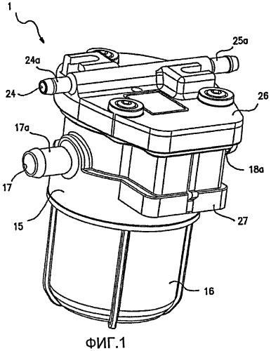 Фильтрующее устройство для фильтрации газообразного топлива в системах подачи газа в двигатели внутреннего сгорания