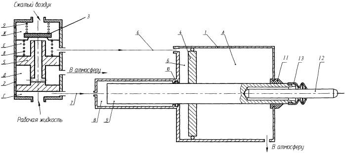 Пневмогидравлический усилитель привода сцепления транспортного средства-3
