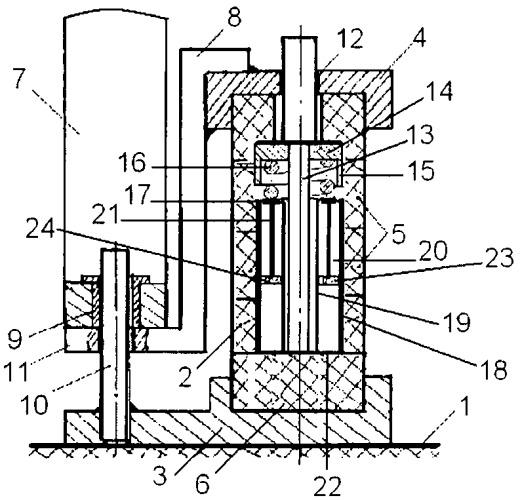 Резиновый виброизолятор с гидравлическим демпфером