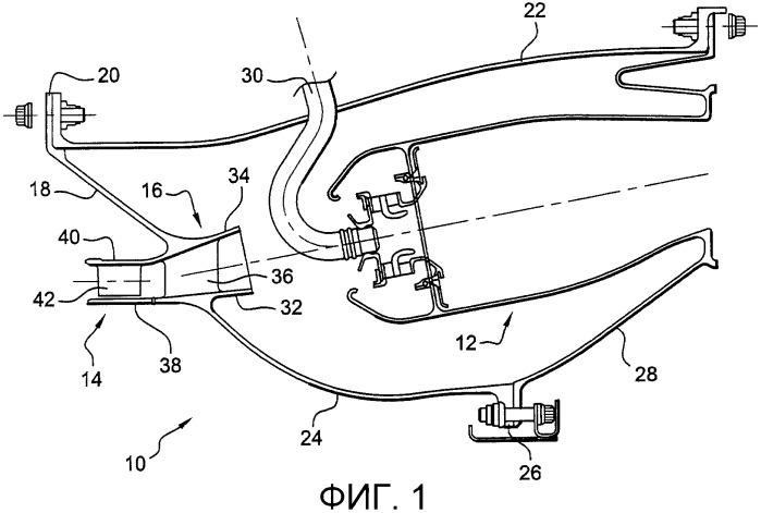 Направляющее устройство для потока воздуха на входе в камеру сгорания газотурбинного двигателя