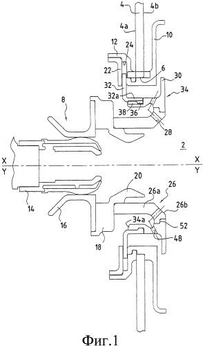 Конструкция кулачкового соединения для камеры сгорания газотурбинного двигателя, камера сгорания, содержащая такую конструкцию, и газотурбинный двигатель