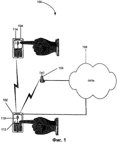Использование касаний для пересылки информации между устройствами