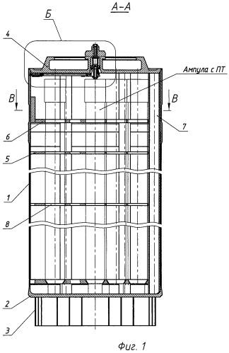 Герметичный пенал хранения отработавшего ядерного топлива