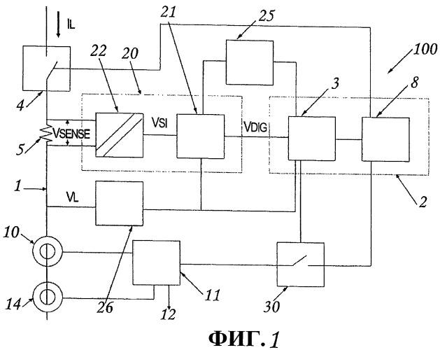 Защитное устройство для низковольтной линии питания переменного и постоянного тока