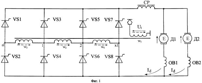 Способ снижения послекоммутационных колебаний напряжения на токоприемнике электровоза и устройство для его осуществления