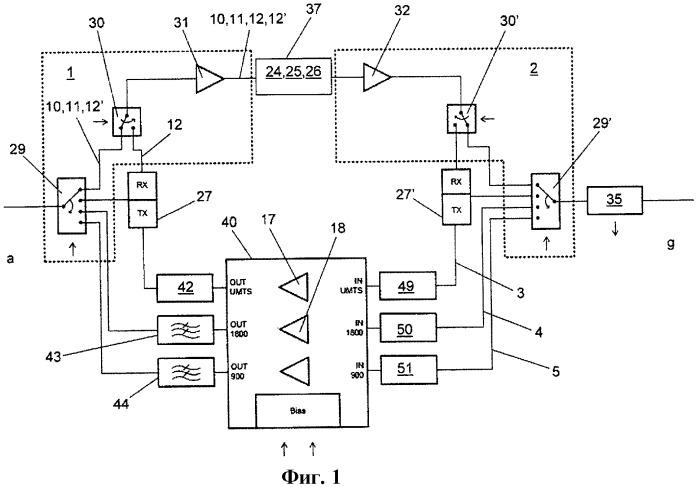 Модульная схема компенсации ослабления радиосигналов
