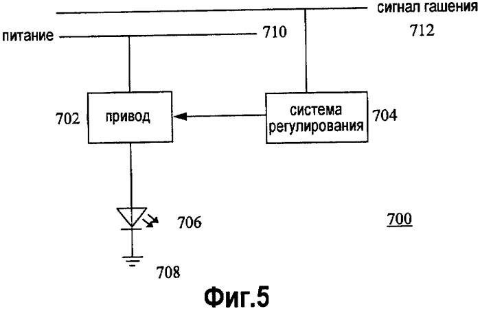 Способ и устройство для снижения термического напряжения в светоизлучающих элементах