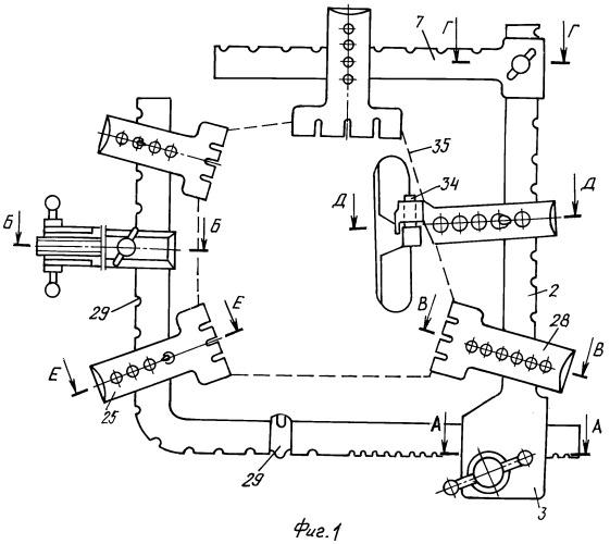 Устройство с разъемной наклонной рамой для операций в брюшной полости