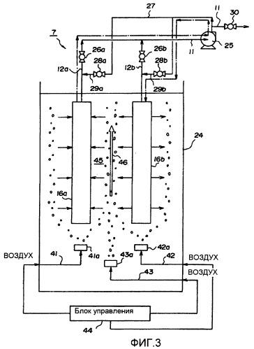 Пленочное фильтрационное устройство из полых волокон