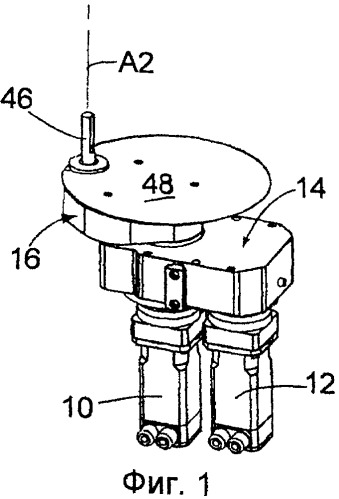 Выталкивающий механизм для машины с отдельными секциями