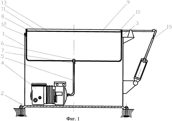Устройство для пропитки-пролежки кожевенно-мехового полуфабриката, обрабатываемого при реализации капиллярного эффекта