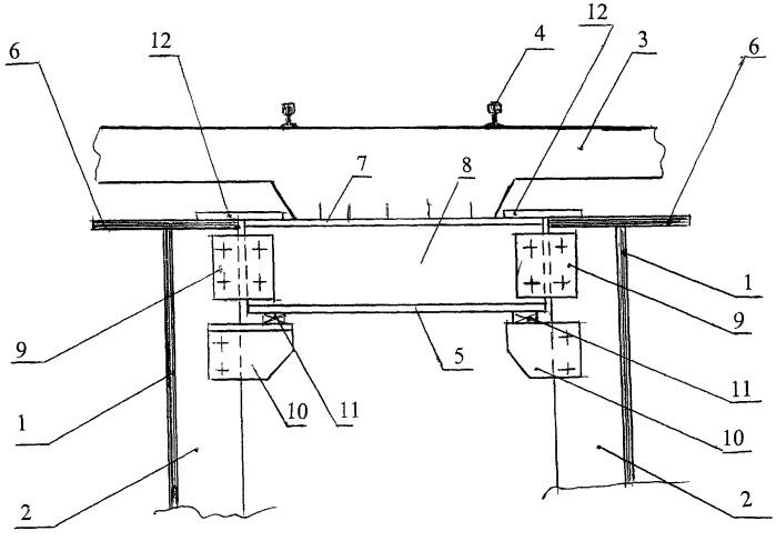 Сталежелезобетонная конструкция с безбалластной плитой проезжей части и способ ее сооружения