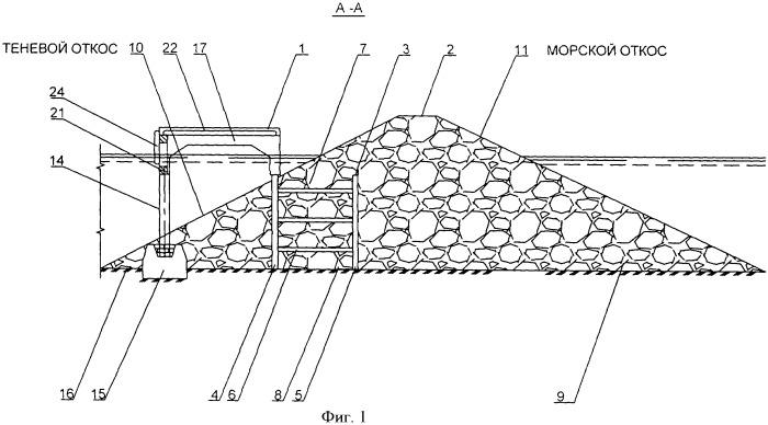 Набросное гидротехническое сооружение с эксплуатационной площадкой, в том числе с причалом для маломерных судов