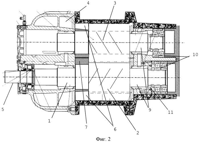 Винтовой компрессор для больших мощностей привода