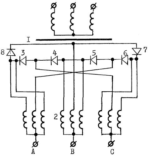 Блок трансформатор-выключатель трехфазного тока