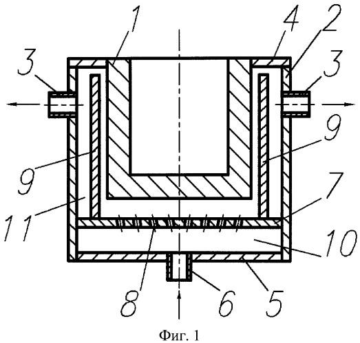 Кристаллизатор для непрерывного горизонтального литья слитков