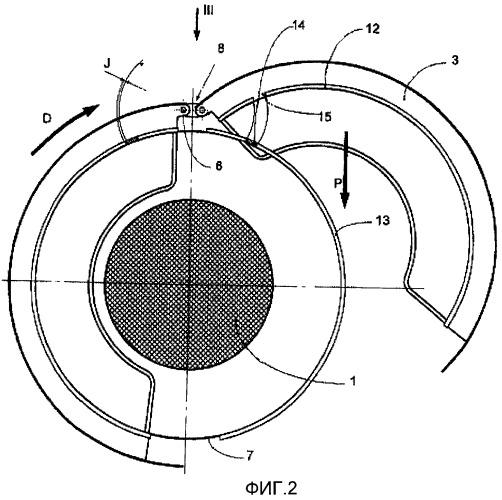 Гондола для турбореактивного двигателя с боковым раскрытием