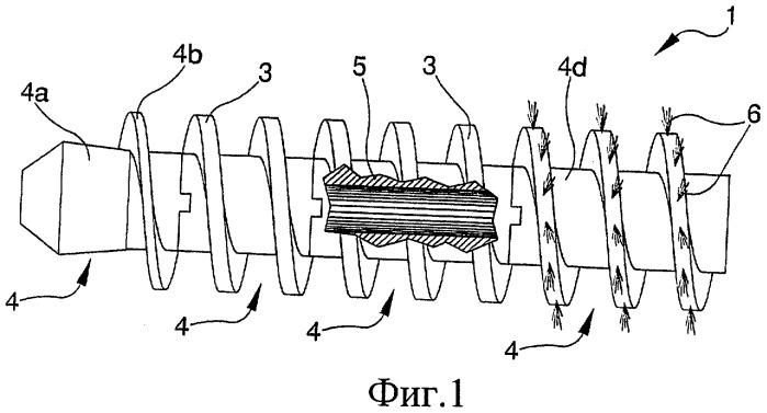 Архимедов винт для использования в конвейерах, уплотнителях и подобных устройствах