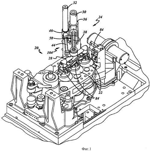 Система перегородок для черновых форм стеклоформующей машины