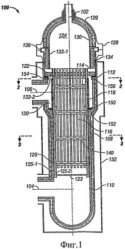 Реактор риформинга с низким перепадом давления