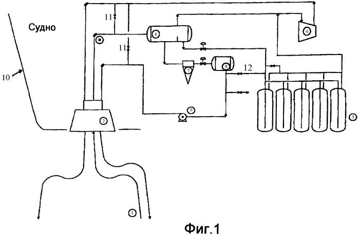Система, судно и способ для добычи нефти и тяжелых фракций газа из коллекторов под морским дном