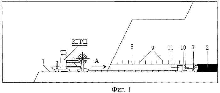Способ открыто-подземной разработки пологого угольного пласта средней мощности