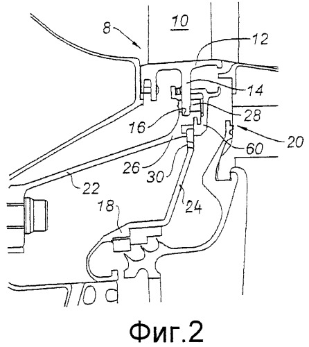 Устройство для крепления направляющего соплового аппарата турбины, турбина и двигатель самолета с таким оборудованием