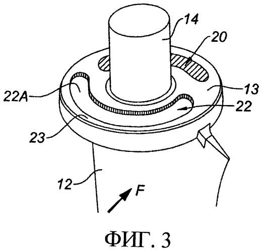 Статорная лопатка газотурбинного двигателя с изменяемым углом установки и газотурбинный двигатель