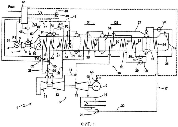 Электростанция комбинированного цикла и соответствующий способ эксплуатации