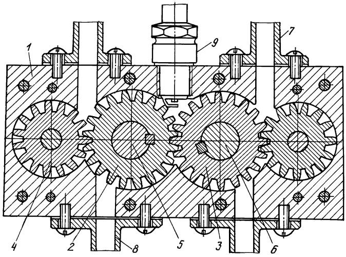 Шестеренчатый двигатель внутреннего сгорания
