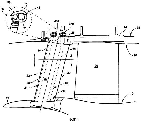 Теплопередающая система для турбинного двигателя с использованием тепловых труб