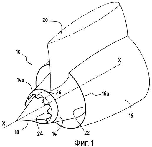 Капот для сопла газотурбинного двигателя, содержащий треугольные элементы с двойными вершинами для снижения шума реактивной струи, сопло газотурбинного двигателя и газотурбинный двигатель