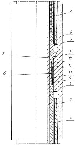 Замковая опора вставного скважинного насоса