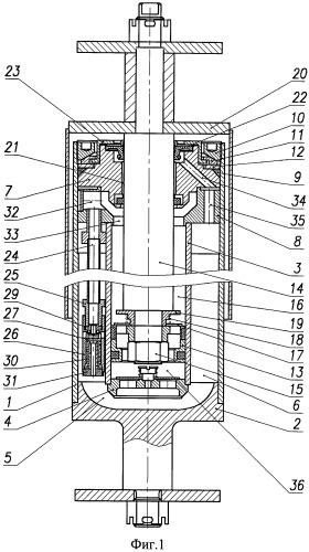Гидравлический телескопический демпфер подвески транспортного средства