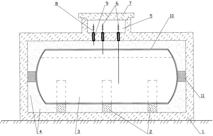 Железобетонный резервуар для долговременного хранения сжиженного природного газа