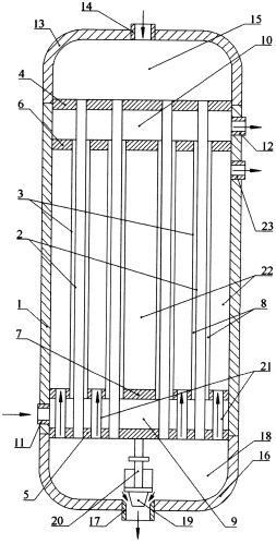 Вертикальный кожухотрубчатый конденсатор