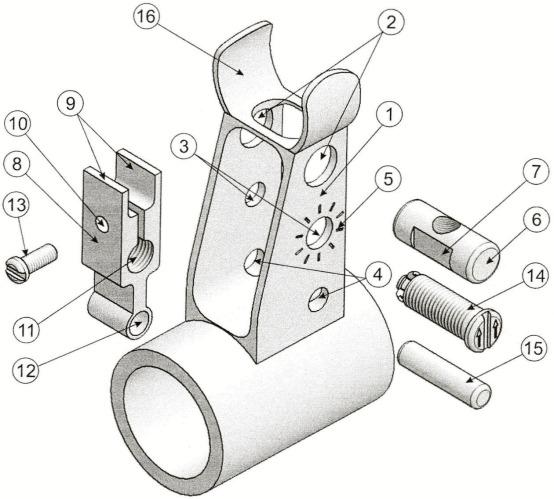 Основание мушки механического прицела стрелкового оружия с механизмом выверки и фиксирования
