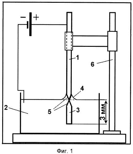 Способ получения иглы из монокристаллического вольфрама для сканирующей туннельной микроскопии