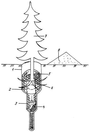Устройство для закрепления корневой системы деревьев