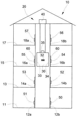 Способ настройки поэтажных соединений большого количества обслуживающих устройств лифтовой установки