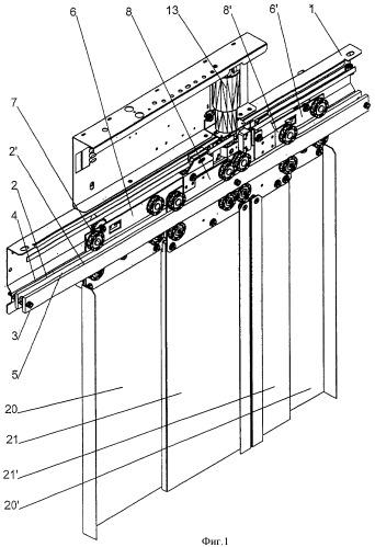 Конструкция двери лифта