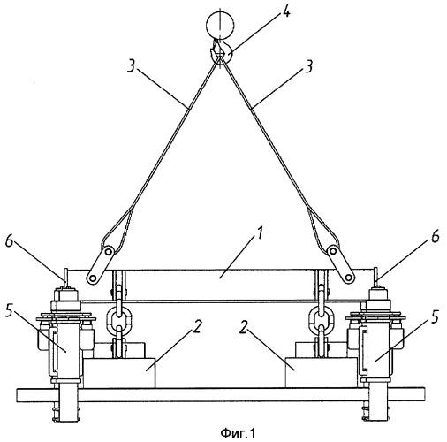 Электромагнитная траверса с грузостраховочным устройством