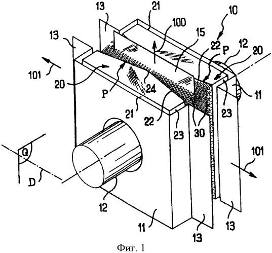 Устройство для нагнетания газа на поверхность материала движущейся полосы
