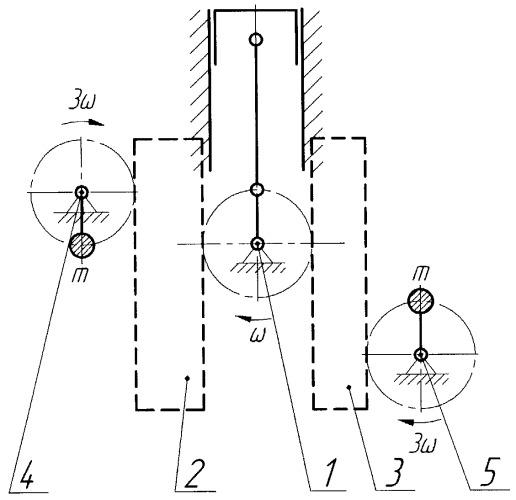 Механизм уравновешивания шестицилиндрового двигателя внутреннего сгорания