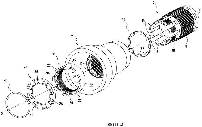 Соединение уменьшенного радиального габарита между валом турбины и цапфой вала компрессора газотурбинного двигателя и газотурбинный двигатель, содержащий указанное соединение