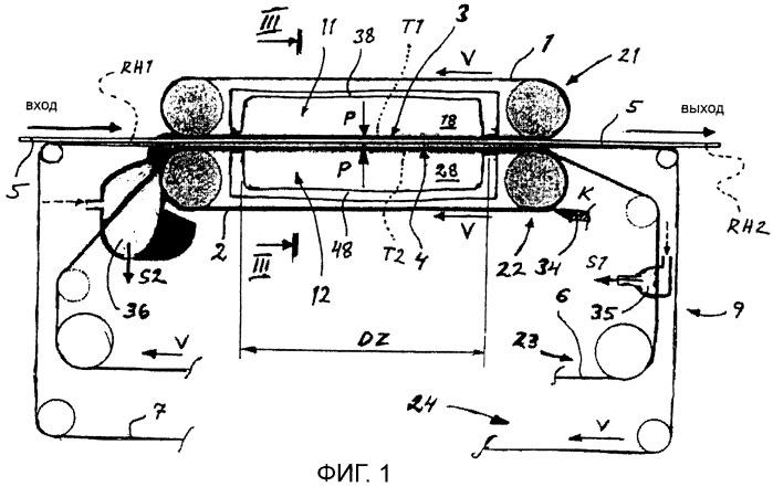 Способ и устройство для контактной сушки лущеного или резаного древесного шпона